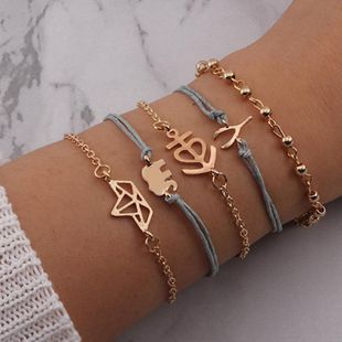 Womens  Fashionable popular stag safari elephant Antlers Sailing Alloy Bracelet NHNZ122094's discount tags