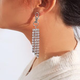 Womens  plating Studded tassel alloy Earrings NHNZ122097's discount tags