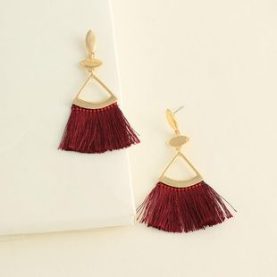 Womens tassel plating alloy Earrings NHNZ122099's discount tags