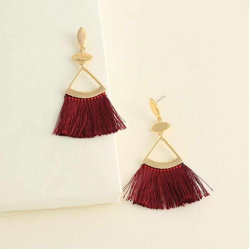 Womens tassel plating alloy Earrings NHNZ122099