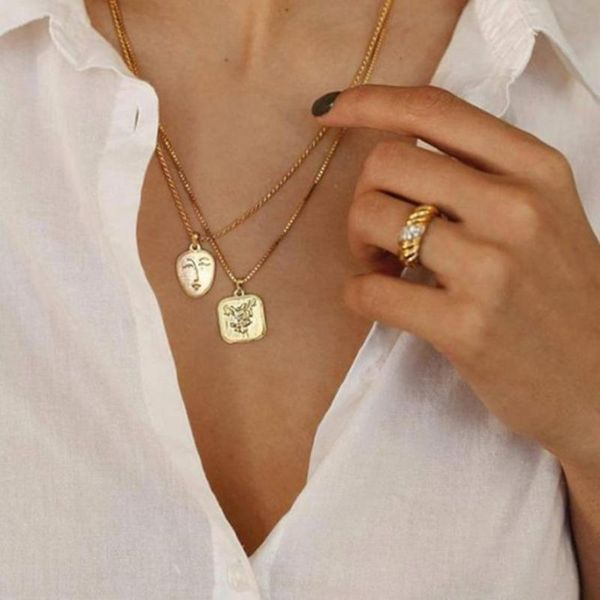 Womens portrait plating alloy Necklaces NHNZ122114