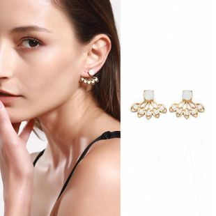 Womens Lotus Simple Plating Alloy Earrings NHNZ122126's discount tags