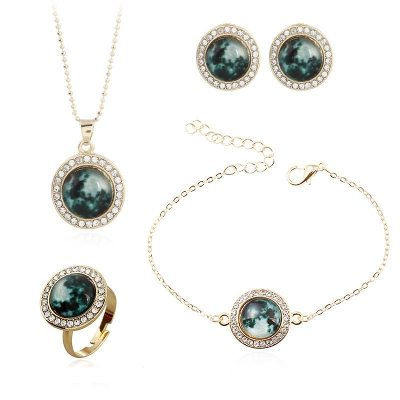 Womens Rhinestone Alloy Jewelry Sets NHNZ122134