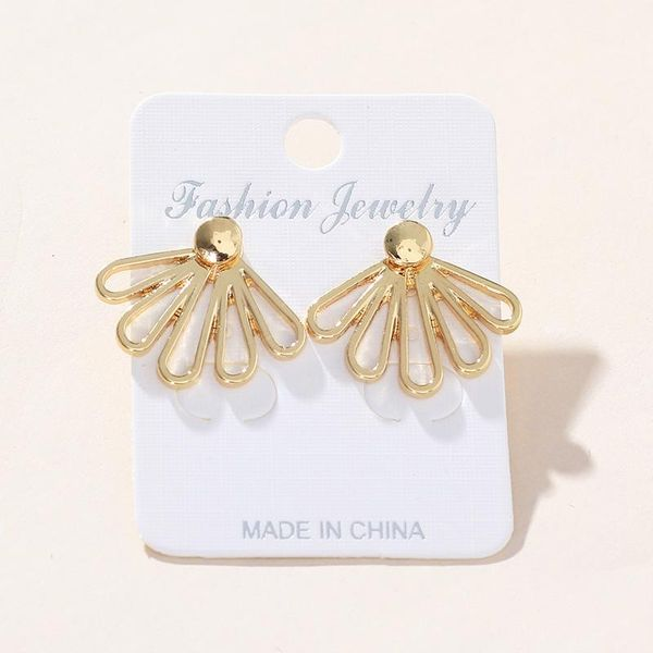 Womens  Stylish and delicate hollow lotus Rhinestone Alloy Earrings NHNZ122136