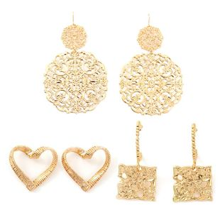 Womens Love Plating Hollow Alloy Earrings NHNZ122141's discount tags