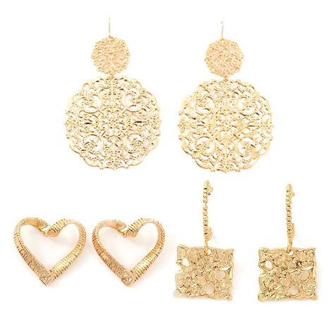 Pendientes de aleación hueca para mujer Love Plating NHNZ122141's discount tags