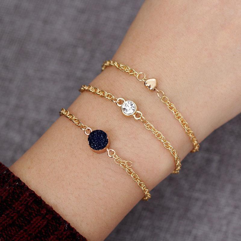 Womens Love Plating Alloy Bracelets & Bangles NHNZ122143