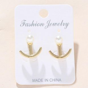 Womens Anchor Plating Alloy Earrings NHNZ122144's discount tags