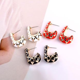 Fashion personality Geometric Drop Oil Alloy Earrings NHQD122146's discount tags