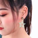 Womens Star Drop Oil Alloy Earrings NHQD122155