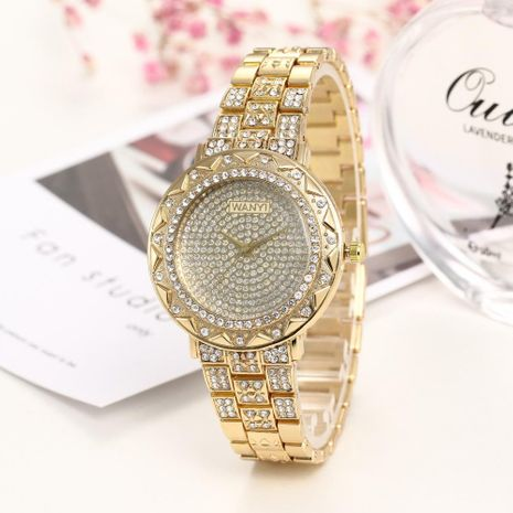 Fashion casual starry quartz wrist watch NHHK122167's discount tags