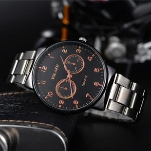 Fashion large dial men s steel belt watch NHSY122173's discount tags