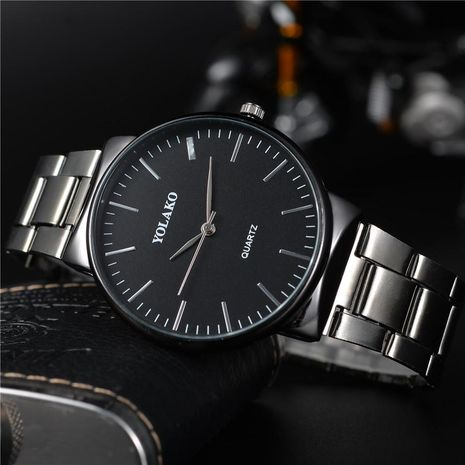 Fashion large dial men s steel strap watch NHSY122181's discount tags