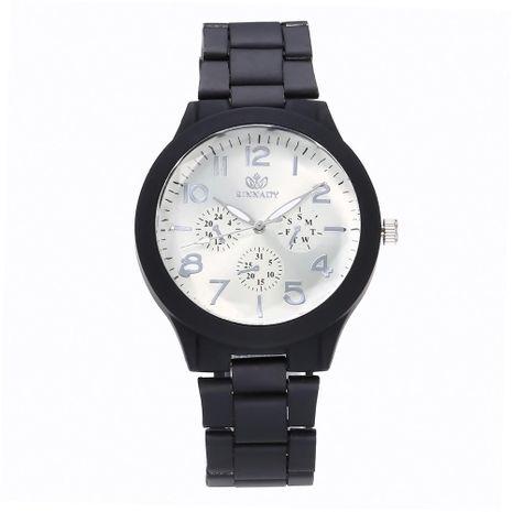 Fashion fake three-eye alloy steel belt watch NHHK122188's discount tags