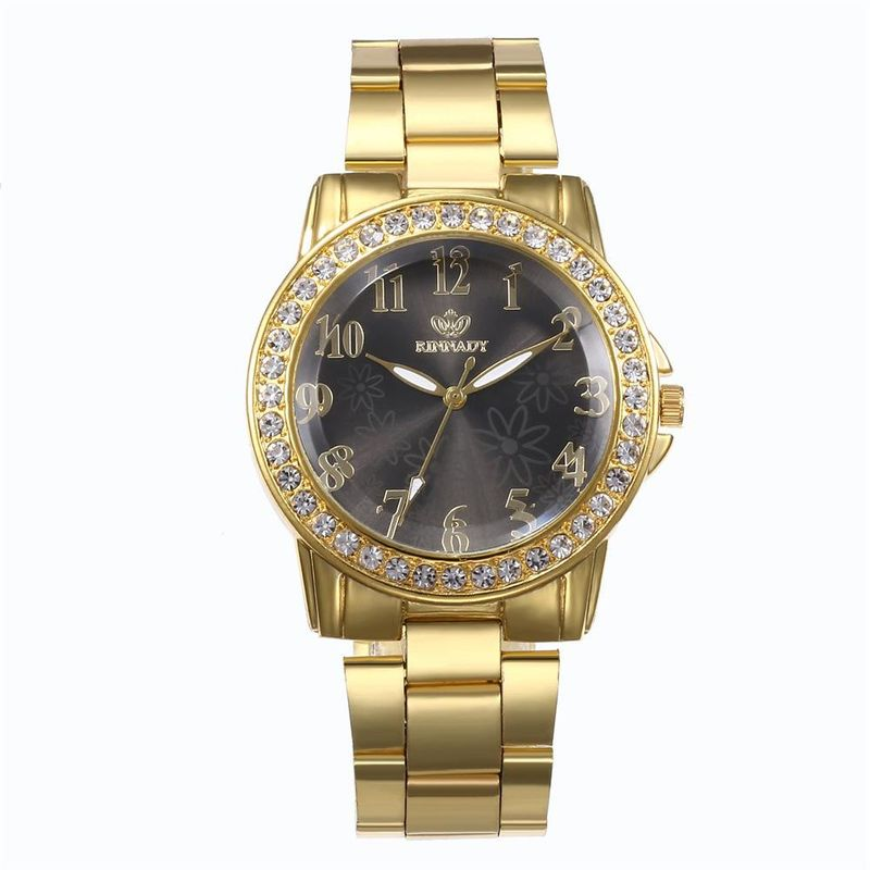 Fashion personality flower dial alloy watch NHHK122191