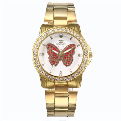 Fashion Rhinestone Rhinestone Butterfly Steel Quartz Watch NHHK122193's discount tags