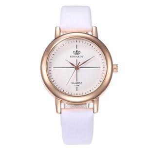 Fashion simple meridian quartz belt watch NHHK122194's discount tags