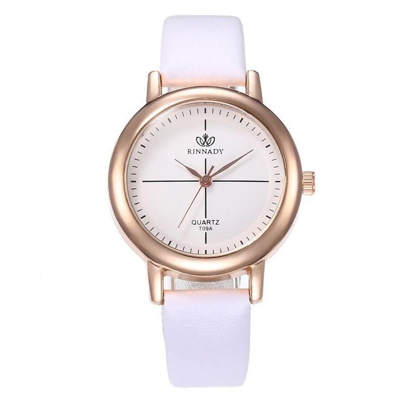 Fashion simple meridian quartz belt watch NHHK122194