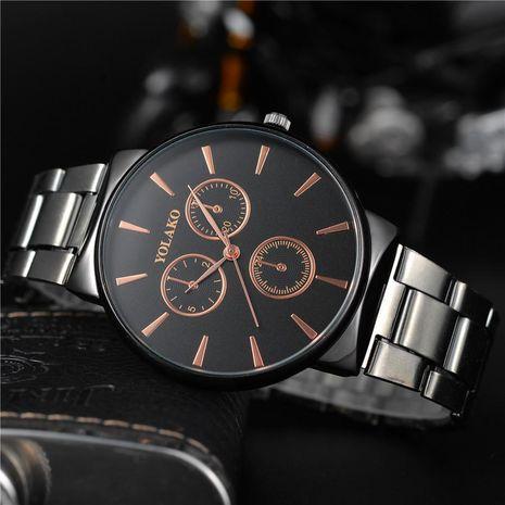 Classic three-eye stripe quartz watch NHSY122205's discount tags