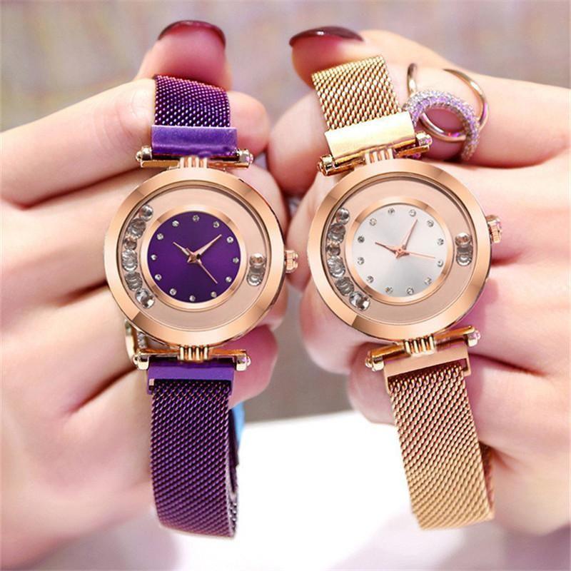 Stylish luxury rhinestone ball quartz watch NHSY122207