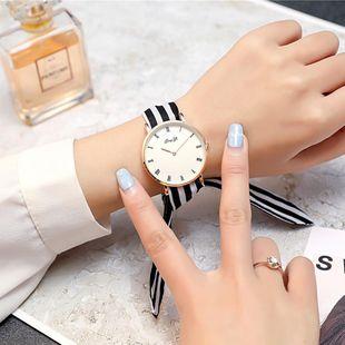 Fresh gauze straps polka dot stripe ladies watch NHSY122210's discount tags