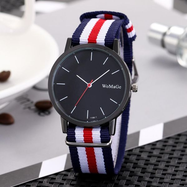Color braided black shell large dial watch NHSY122213