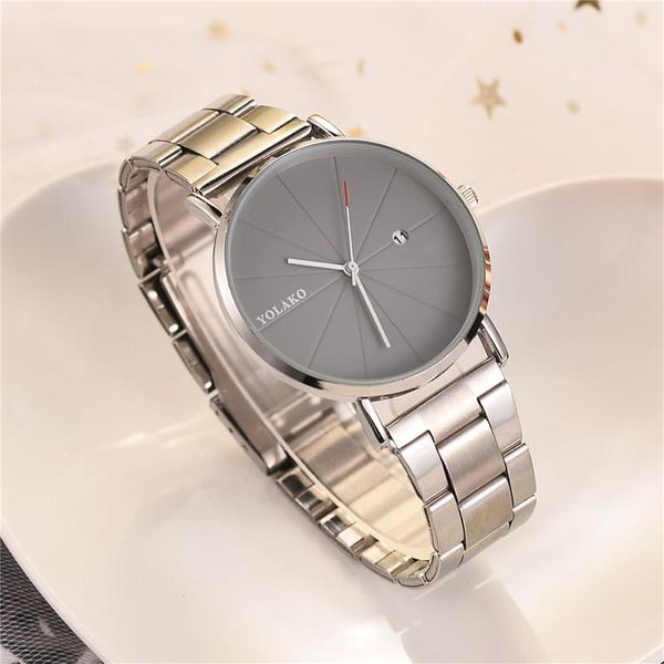 Simple high-end ultra-thin calendar men s business watch NHSY122220