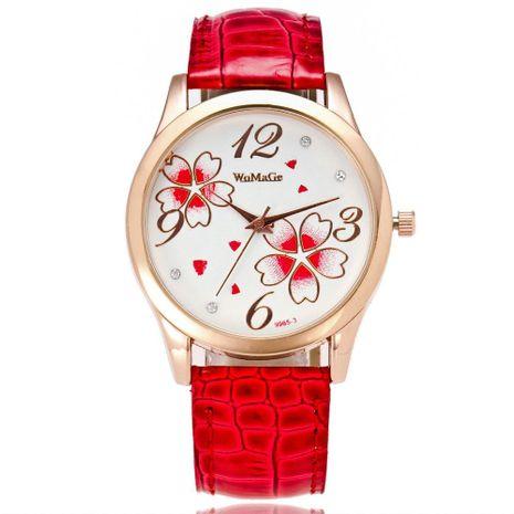 Fashion cute four-leaf clover personality belt watch quartz watch NHSY122249's discount tags