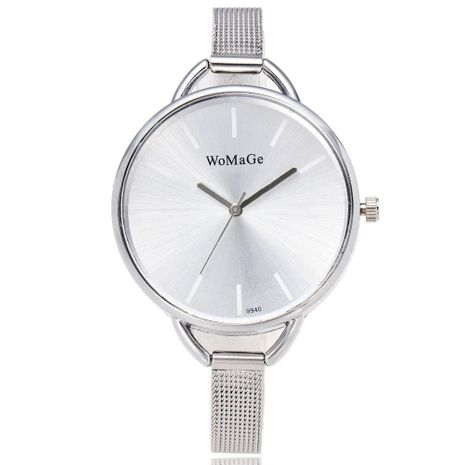 Fashion stainless steel men s and women s mesh belt quartz watch NHSY122273's discount tags