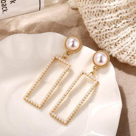 Womens Geometric Inlay Beads Alloy Earrings NHPJ122538's discount tags