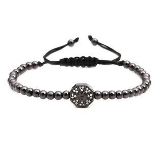 Unisex Gossip copper bead weaving Bracelet NHYL122540's discount tags