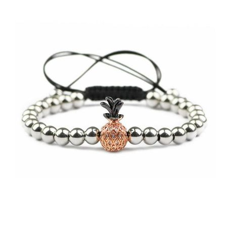 Fashion Pineapple copper bead weave Bracelet NHYL122543's discount tags
