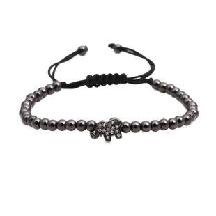 Fashion Elephant Copper bead weaving Bracelet NHYL122553's discount tags