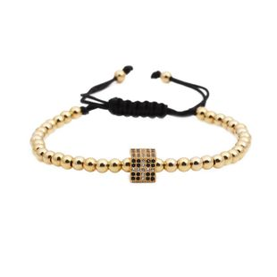 Fashion Cross square copper bead bead weave Bracelet NHYL122556's discount tags