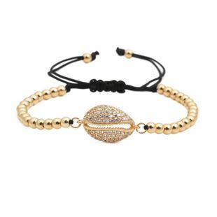 Unisex Shell Copper bead weaving Bracelet NHYL122562's discount tags