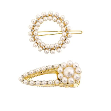 Womens Floral Electroplating Alloy Rhinestone flower hair clip NHHN122563's discount tags