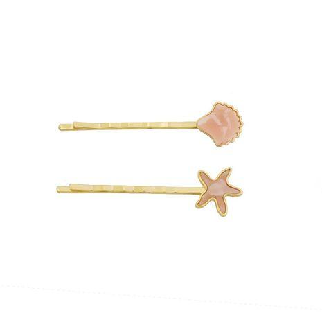 Womens Starfish Shell Plating Metal  Hair Clip NHHN122568's discount tags