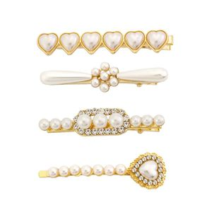 Womens Heart Plated Alloy Beads Hair clip NHHN122573's discount tags