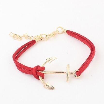 Womens geometric hand-woven leather Bracelet NHPJ122586's discount tags