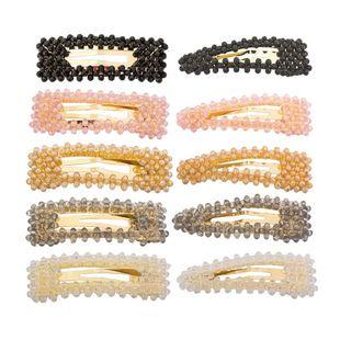 Womens tear-shaped woven imitated crystal Hair clip NHHN122598's discount tags