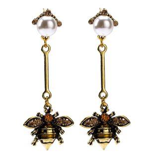 Womens Bee Acrylic Earrings NHJE122614's discount tags