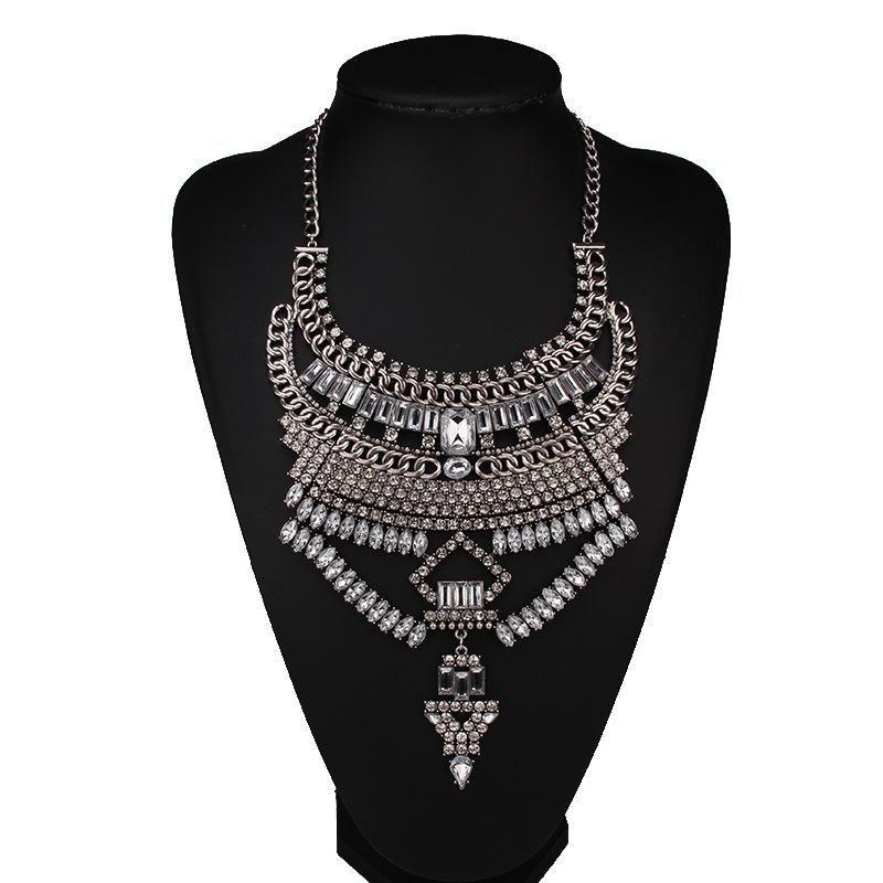 Womens geometric gemstone alloy jewelry Necklaces NHJQ122628