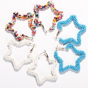 Womens Simple national star  Earrings NHJQ122637's discount tags