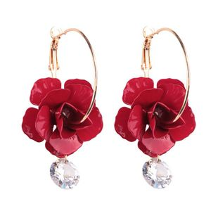 Womens Floral Plating Alloy Earrings NHJQ122722's discount tags