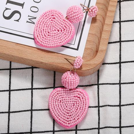 Womens Heart Shaped Rice Beads Earrings NHJQ122764's discount tags