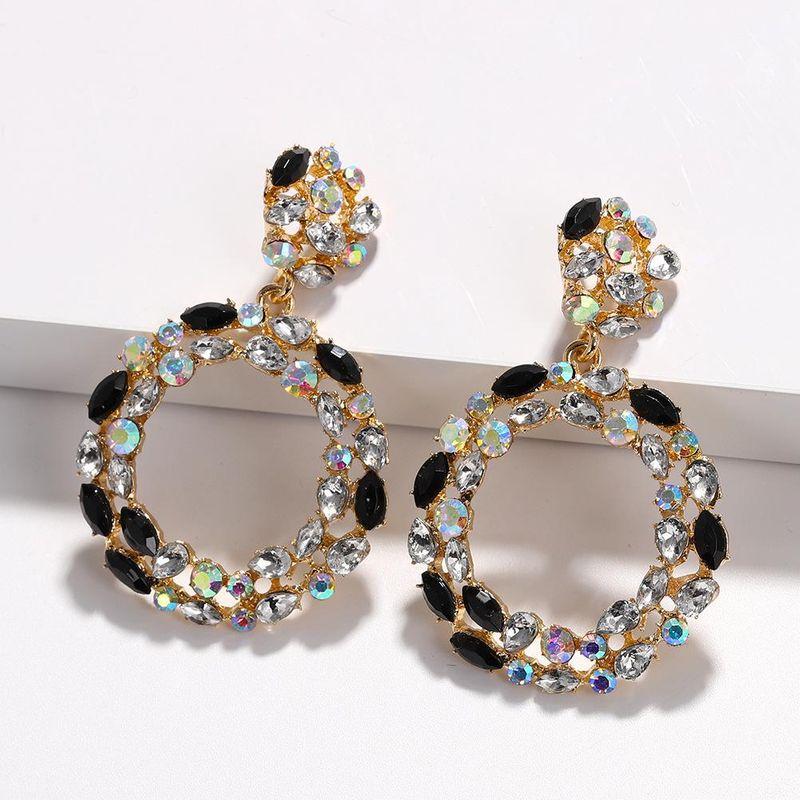 Womens Geometric Rhinestone Earrings NHJQ122759