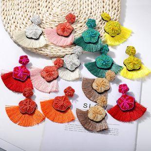 Womens Geometric tassel Beads Earrings NHJQ122769's discount tags