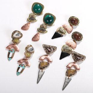 Womens Geometric Paint Alloy Earrings NHJQ122770's discount tags