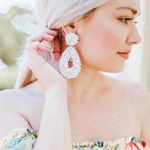 Womens teardrop-shaped Earrings NHJQ122774's discount tags