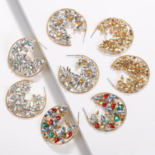 Womens Geometry Electroplating Alloy Earrings NHJQ122775's discount tags